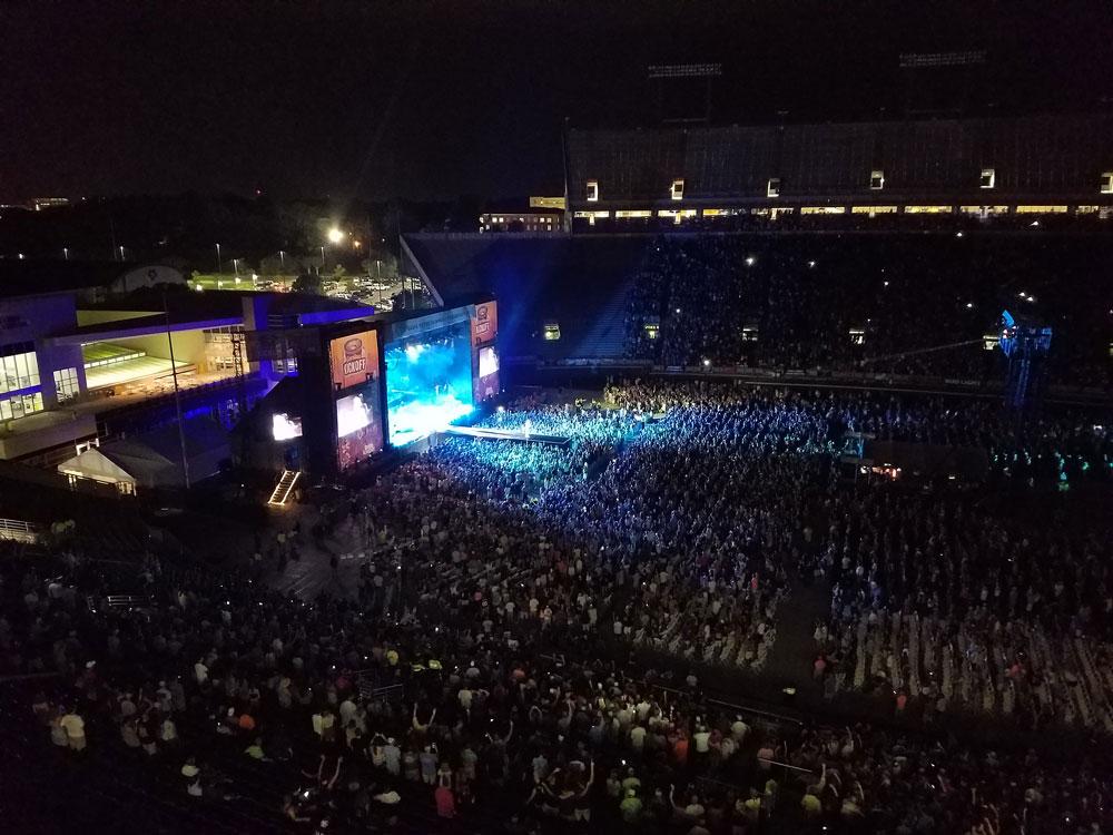 Carolina Kickoff: Eric Church and Kid Rock performed at Dowdy-Ficklen Stadium on Saturday. (Brian Bailey photo)