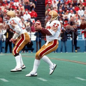 Quarterback Doug Flutie led Boston College into Legion Field and rallied the Eagles to and upset victory over Alabama to open the 1984 season. (Photo courtesy of National Football Foundation)