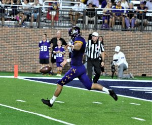 Placekicker Jake Verity took over punting duties with an injury to Jonn Young. (Photo by Al Myatt)
