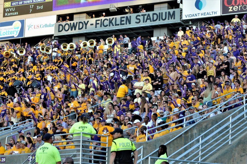 The crowd was bigger in the Boneyard than the first home game when classes had been out due to Hurricane Dorian (Photo by Al Myatt)