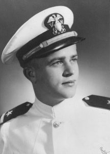 After entering as a freshman at ECTC in 1942, Robert Morgan left school to join the United States Navy. He returned to East Carolina and graduated in 1947. Morgan continued his education on the old campus of what was then Wake Forest College, where he received his law degree. (Submitted)
